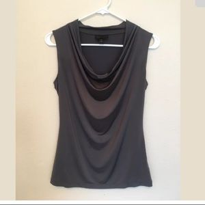 Worthington Gray Sleeveless SM Silky Stretchy (o)